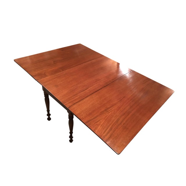 Antique Sheraton Walnut Pembroke Table For Sale