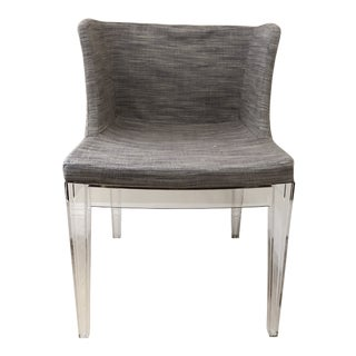 Phillipe Starck Mademoiselle Acrylic and Upholstered Chair in Custom Lavender Upholstery For Sale