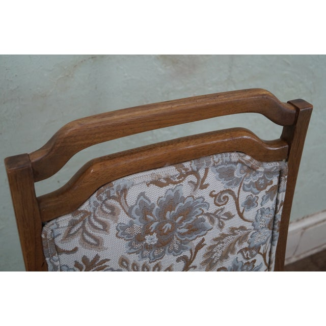 Mid Century Modern Walnut Upholstered Arm Chair - Image 7 of 10