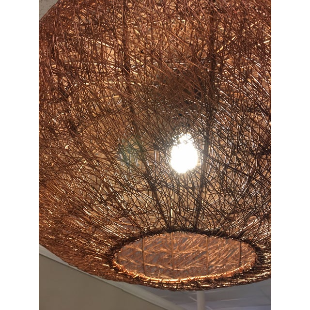 Sarreid Ltd. Contemporary Copper Mesh Chandelier or Pendant For Sale - Image 4 of 6