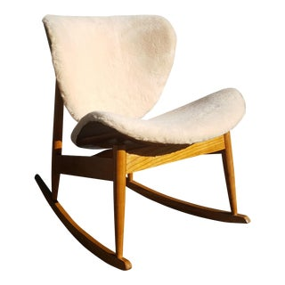 Mid Century Modern Kodawood Plywood Rocking Chair For Sale