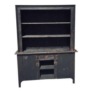 Primitive Buffet or Sideboard. 100 Year Old Antique Reclaimed Barn Wood. China Cupboard.