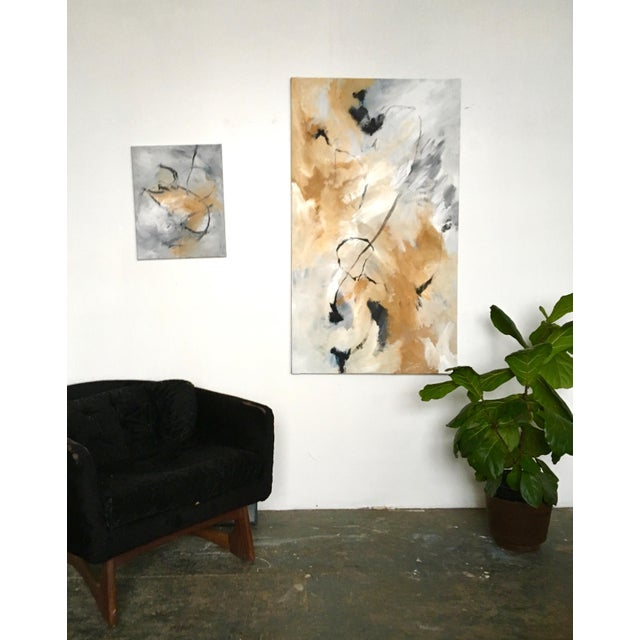 """Abstract """"Fox Run"""" Original Painting by Maddie Gerig Shelly For Sale - Image 3 of 4"""