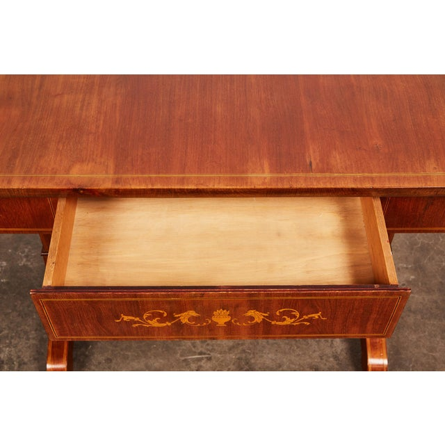 Mid 19th Century 19th Century Danish Empire Mahogany Salon Table For Sale - Image 5 of 11