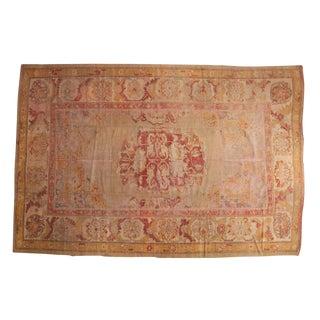 "Vintage Fragment Oushak Carpet - 8'7"" x 13'"