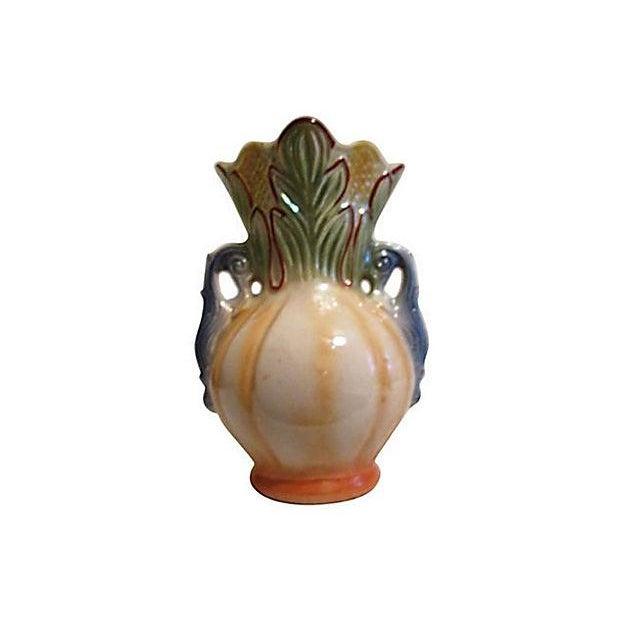 Large Brazilian Lusterware Handled Vase - Image 2 of 7