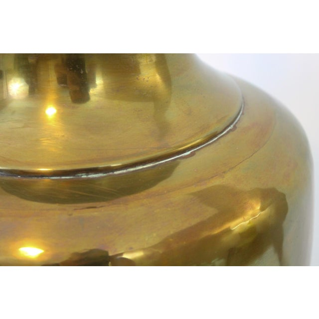 Vintage Oversize Asian Brass Lamp by Wildwood - Image 4 of 10