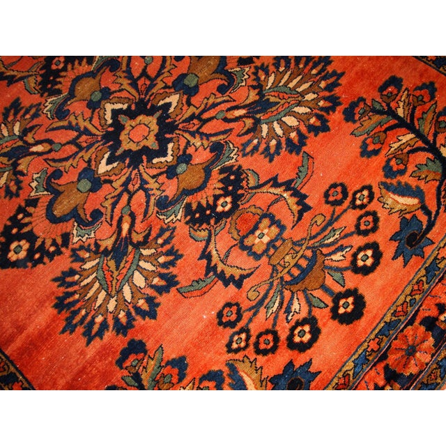 1920s, Handmade Antique Persian Lilihan Rug 5.3' X 7.2' For Sale In New York - Image 6 of 10