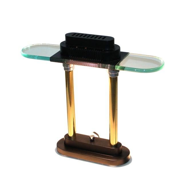 Gold Sonneman Post-Modern Banker's Desk Lamp For Sale - Image 8 of 8