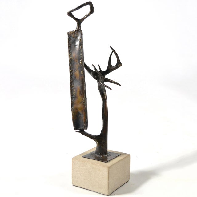This compelling abstract sculpture by Clyde Ball has both surrealist and brutalist qualities. A powerful composition...