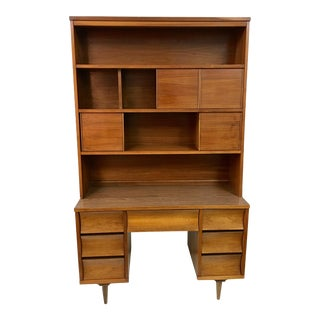 Mid-Century Desk & Hutch For Sale