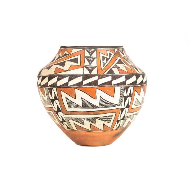 "Antique Native American Polychrome Pottery Jar Acoma size 10 x 10"""