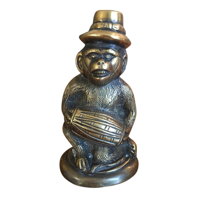 Vintage Solid Brass Monkey - Image 1 of 6