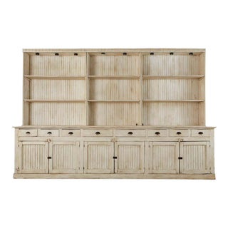 American Painted Pine Kitchen Cabinet Cupboard or Bookcase For Sale
