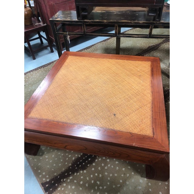Late 20th Century 20th Century Ming Style Cane Top Coffee Table For Sale - Image 5 of 8