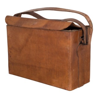 World War Ll Era Leather Carrying Case C.1940 For Sale
