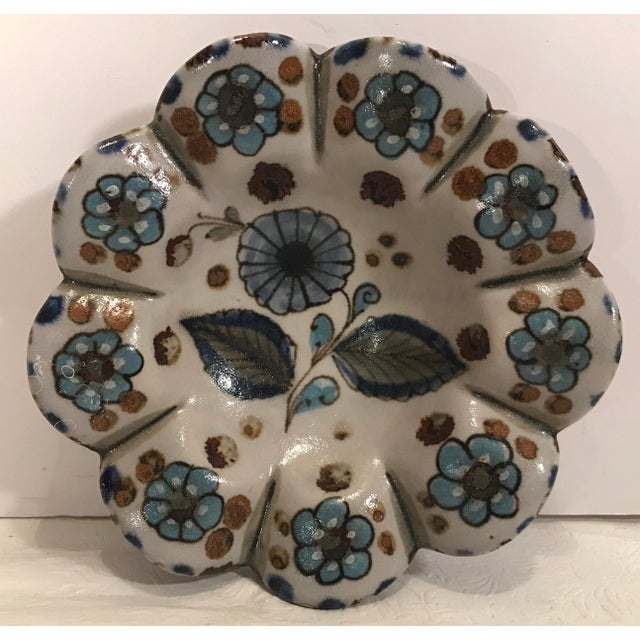 Vintage Mexican Pottery Hand Painted Ashtray For Sale In Dallas - Image 6 of 6
