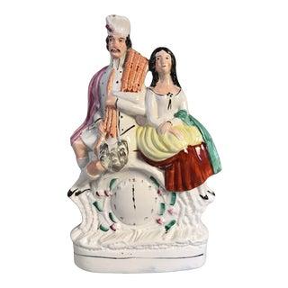 Large Antique Staffordshire Scottish Figurine For Sale