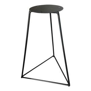Triangular Minimal Pyramid Pedestal For Sale