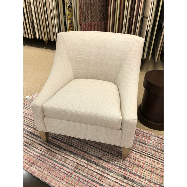 Early 21st Century Transitional Beige Fabric Club Chair For Sale - Image 5 of 5