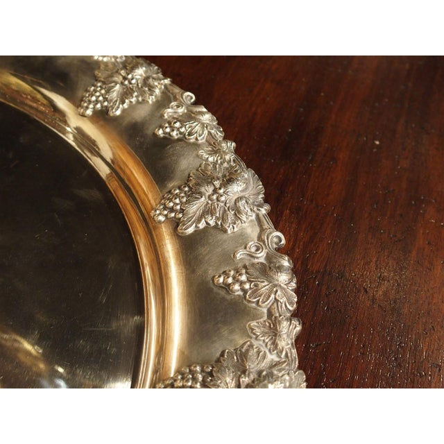 Sheffield A Circa 1900 Silver Plated Punch Bowl and Tray For Sale - Image 4 of 11