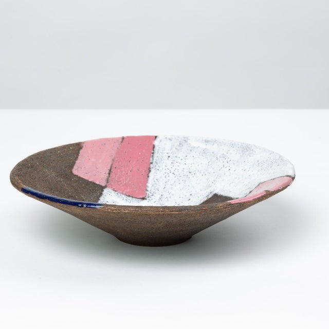 Bitossi Bitossi Patchwork Glazed Stoneware Bowl For Sale - Image 4 of 11