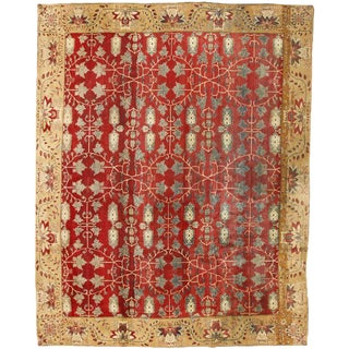 Exceptional Antique 19th Century Indian Agra Carpet For Sale