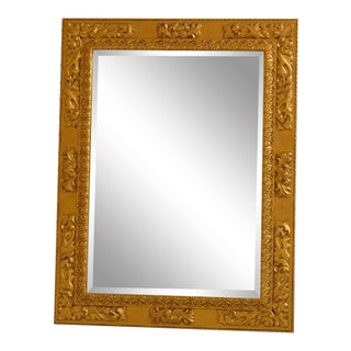 Friedman Brothers Model #6825 Gold Rectangular Mirror For Sale