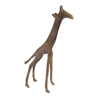 Mid 20th Century African Bronze Speckled Giraffe For Sale