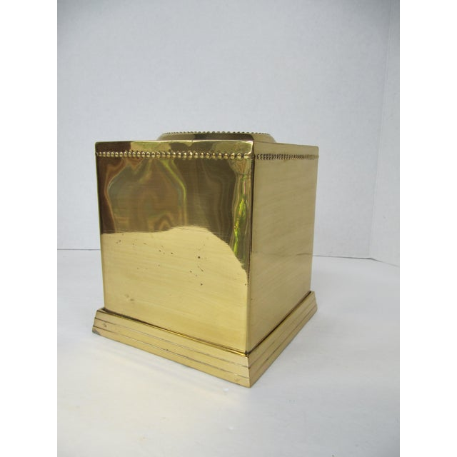 1990s Brass Tissue Box Holder For Sale - Image 5 of 5