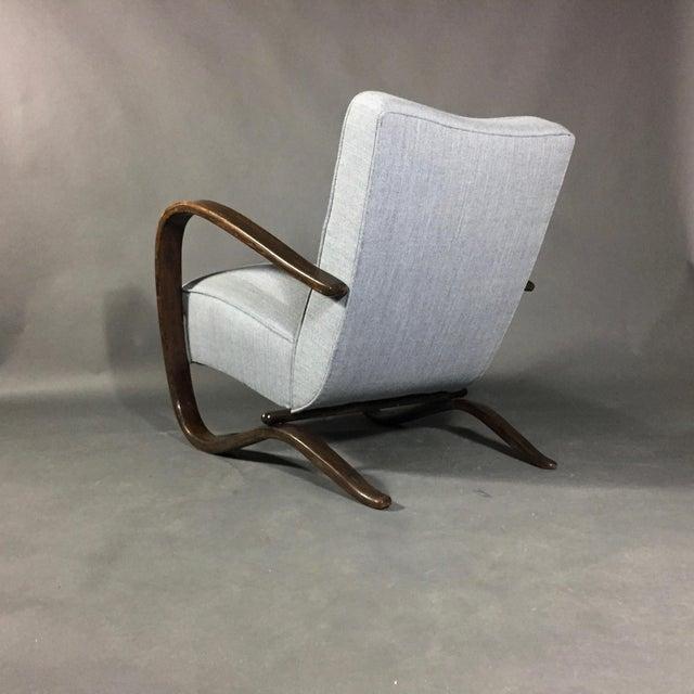 Jindrich Halabala Jindřich Halabala Lounge Chair, Czech Republic, 1930s For Sale - Image 4 of 11