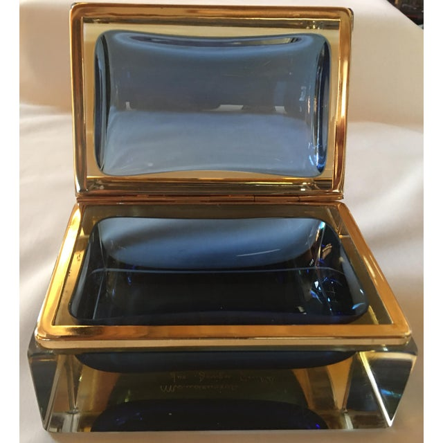 Mid-Century Modern 1960s Sommerso Murano Glass Jewelry Box For Sale - Image 3 of 7