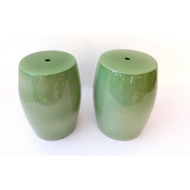 Celadon Garden Seats - Pair - Image 2 of 4