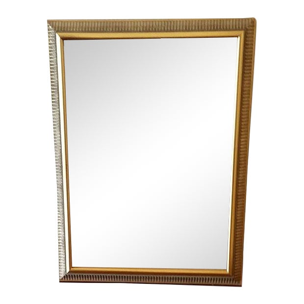 Vintage Gold Painted Wood Framed Mirror - Image 1 of 5