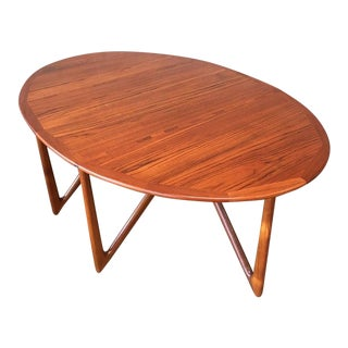 "Vintage Danish Teak ""Gateleg"" Drop Leaf Dining Table by Kurt Østervig for Jason Møbler For Sale"