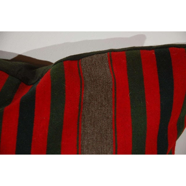 19th Century Wool Indian Blanket Pillows For Sale - Image 4 of 6