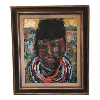 Abstract African Tribal Chief Painting