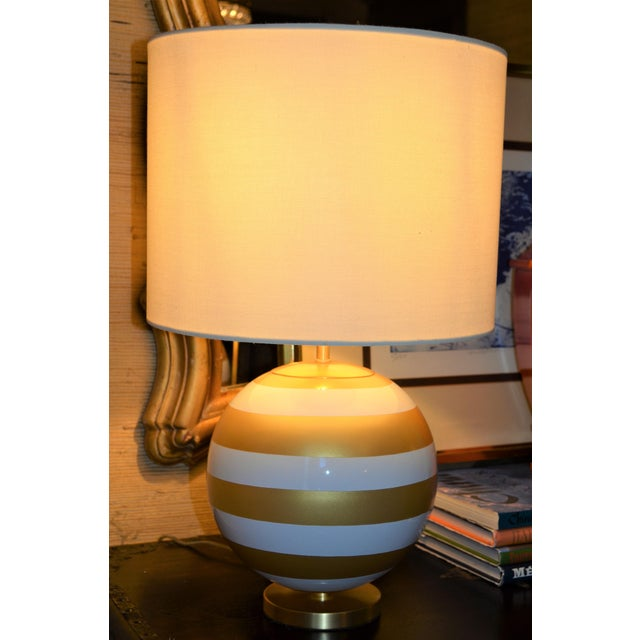 Gold & Cream Kate Spade Table Lamp For Sale - Image 5 of 10