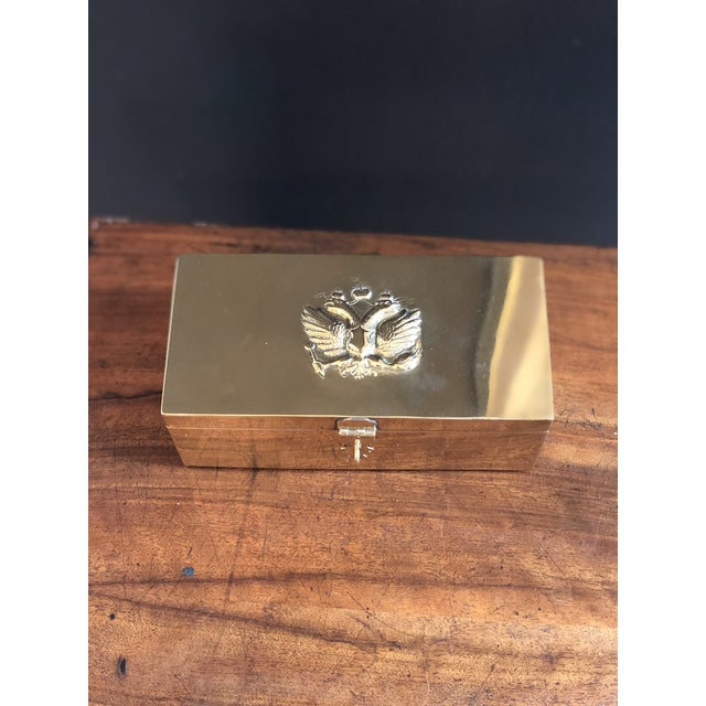 Metal Vintage Russian Tea Box For Sale - Image 7 of 11