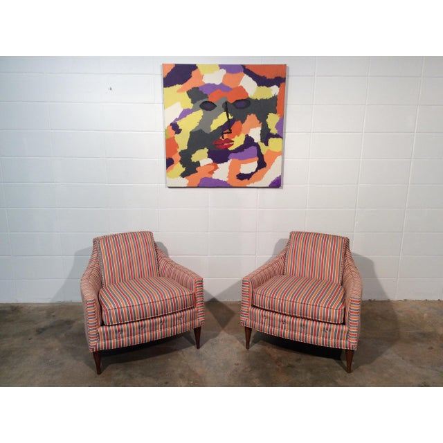 Mid Century Low Back Lounge Chairs - a Pair For Sale - Image 11 of 11