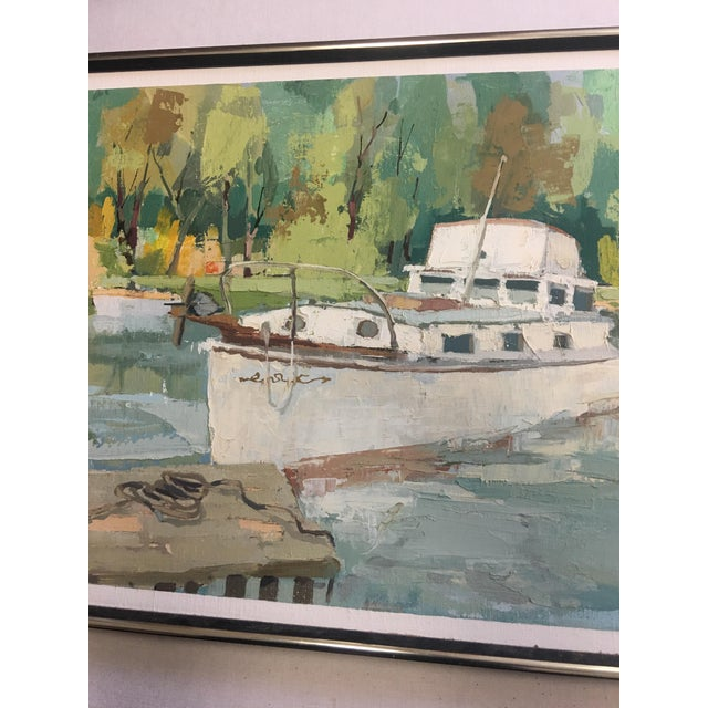 Stefan Lokos Boat At the Marina Painting - Image 6 of 11