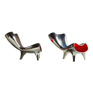 Marc Newson Lockheed Design Orgone Chairs Matching, circa 1993 - A Pair For Sale