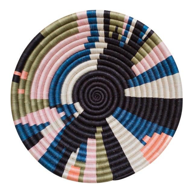 Indego Africa Handwoven Geo Color Plateau Basket For Sale