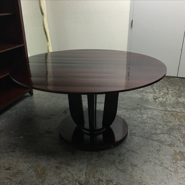 Barbara Barry Round Fluted Dining Table - Image 4 of 9