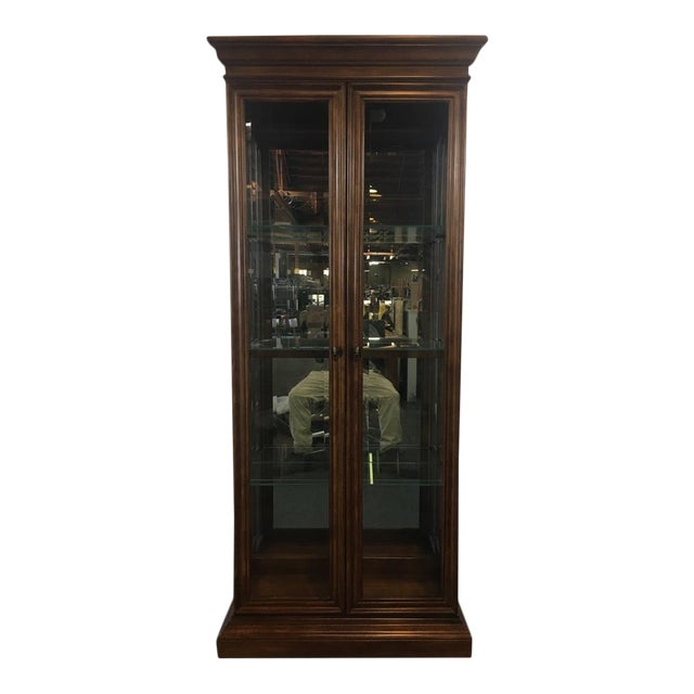 American Of Martinsville Glass Front Two Door Display Cabinet Chairish