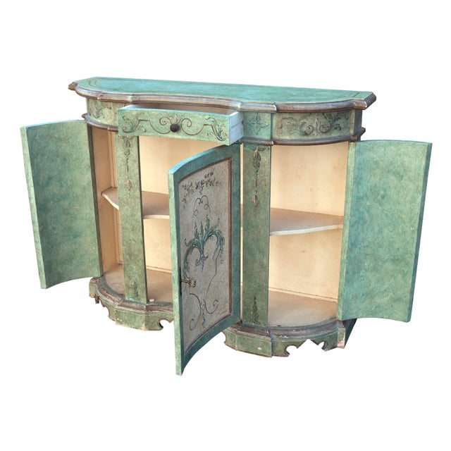 Wood Italian Hand Painted Cabinet For Sale - Image 7 of 10