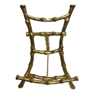 Hollywood Regency Gold Bamboo Easel