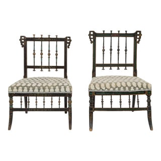Pair of Antique Parlor Chairs For Sale