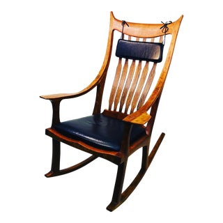 Exceptional and Monumental Rosewood Rocking Chair by Stephen O'Donnell For Sale