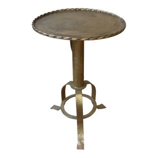 Mid-Century Modern Style Gilt Iron Side Table For Sale